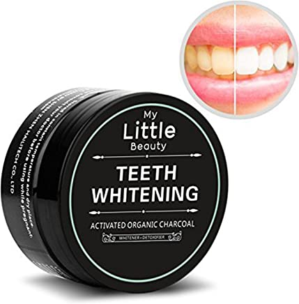 MY LITTLE BEAUTY Teeth Whitening Powder Activated Charcoal All Natural and Organic Teeth Whitening Ingredients - Tooth Whitener 2.12 oz (60 g)