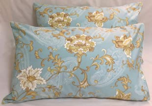 TSOTU Pillow Cases Standard Size Cotton Pillow Shams Covers Printed Pattern Set of 2 (Floral 02)