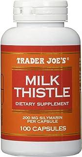 Trader Joe's Milk Thistle, 200 mg Silymarin per Capsule, 100 Capsules