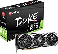 MSI GAMING GeForce RTX 2070 8GB GDRR6 256-bit HDMI/DP/USB Ray Tracing Turing Architecture HDCP Graphics Card (RTX 2070 DUKE 8G OC)