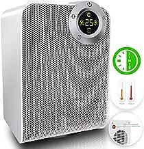 KESSER® - Heizlüfter 1800W Keramik Heizlüfter Heiztower 10-35°C energiesparend leise - Schnellheizer mit Oszillationsfunktion - 2 x Heizstufen - Timer - Heizung Heater
