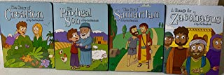 Clever Factory's Pop-Out Bible Storybooks set of 4: Creation, Prodigal Son, Good Samaritan, & Change for Zacchaeus.