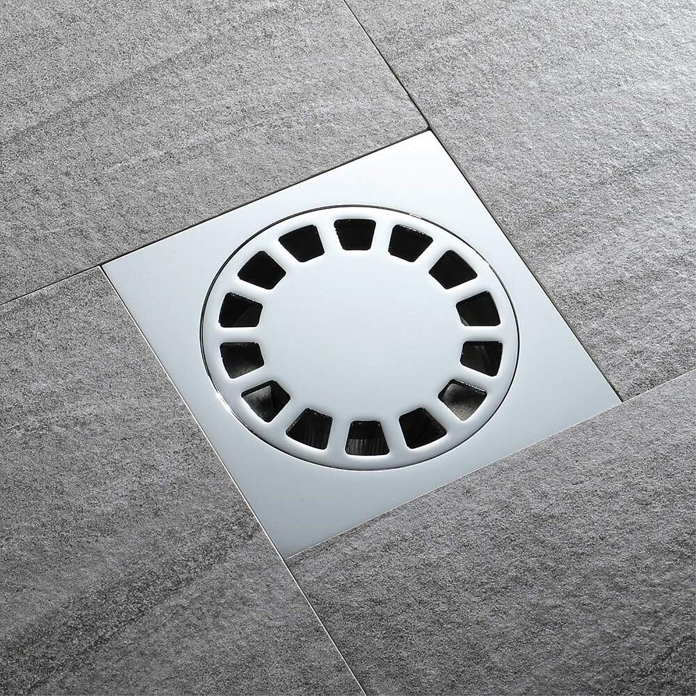 SUNNY KEY-Floor Drain Drain Modern Brass 1 pc - Hotel bath Silvery