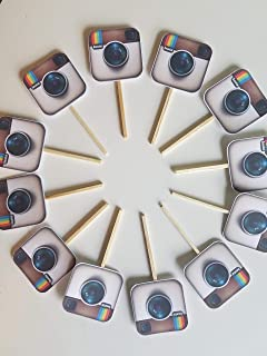 Instagram logo cupcake toppers