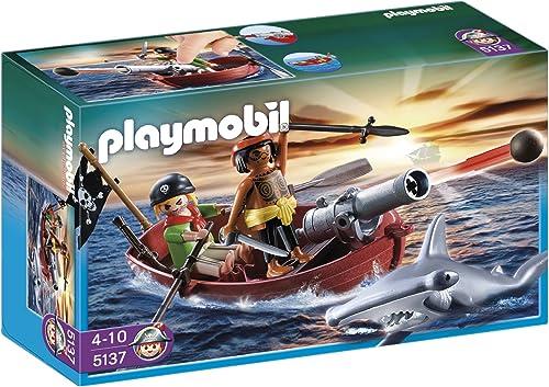 El ultimo 2018 Playmobil Piratas - Bote Pirata Pirata Pirata con tiburón (5137)  servicio honesto