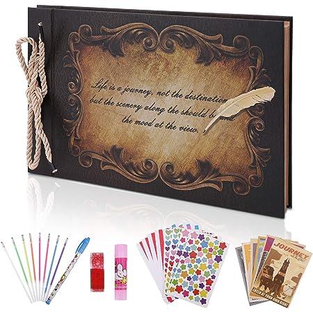 OUME Album Photo Scrapbooking Livre Photo Mémoire Album avec DIY Accessoires Mariage Livre d'or Idee Cadeau Femme pour Valentin De noël Anniversaire