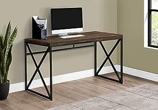"Monarch Specialties Computer Desk - Contemporary Home & Office Desk - Scratch-Resistant - 48"" L (Brown)"