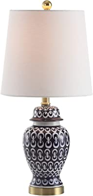 Safavieh TBL4118A Home Collection Kyra Blue and White Table Lamp