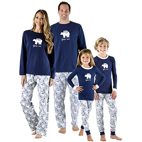 eb9b7fcbe6 SleepytimePjs Family Matching Sleepwear Knit Blue Polar Bear Pajamas PJ Sets