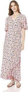 Maive & Bo Women's Harlow Maternity & Nursing Wrap Dress in Blush Foral