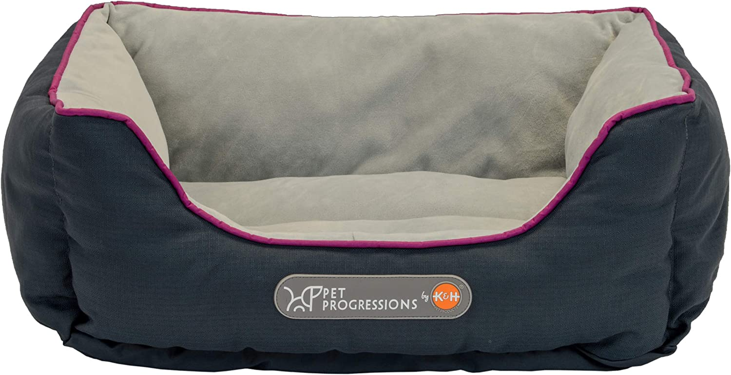 Pet Progressions by K&H Waterproof Puppy Bolster Pet Bed  Piddle Proof, Stain & Odor Resistant, and Tear Resistant for Puppies & Adult Dogs