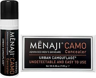Menaji-Maquillaje Corrector Ojeras y Granos indetectable diseñado para hombre. Disminuye Bolsas Ojeras & Disimula Imperfec...