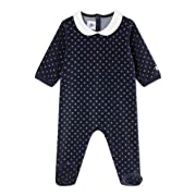 Petit Bateau Baby Organic 2 Long Sleeve Bodysuits Top Gift Box 15057 74 cm Blue//White with Blue Striped, 12 Months