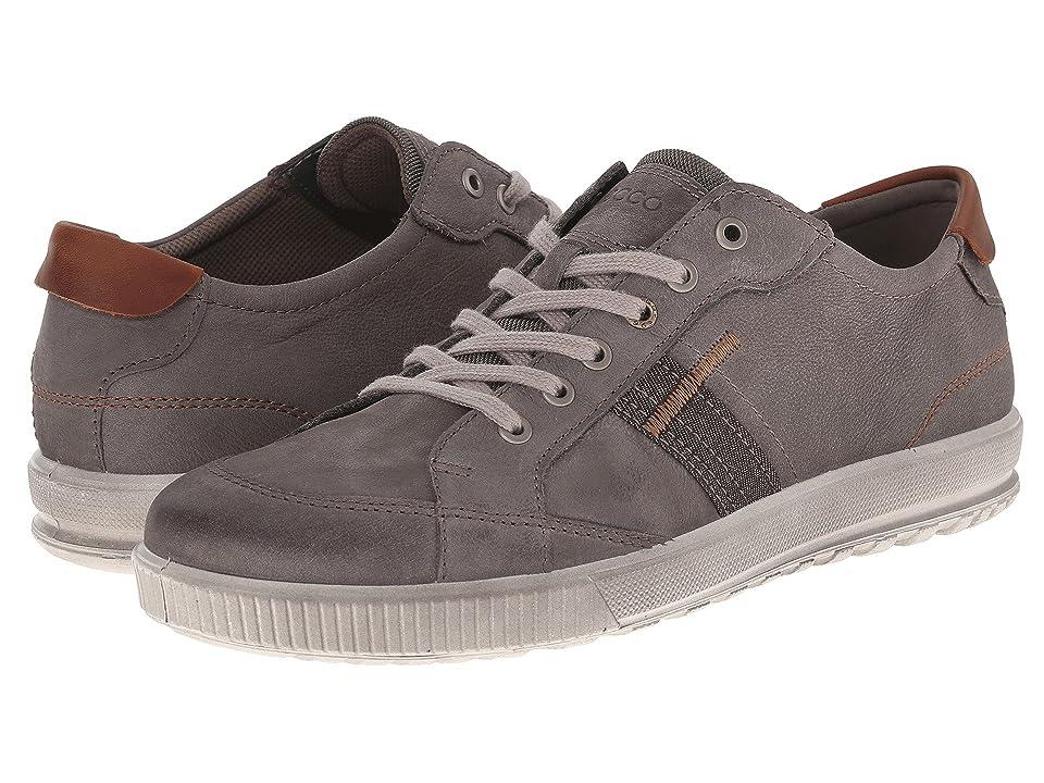 ECCO Ennio Retro Sneaker (Warm Grey/Cognac) Men