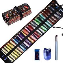 مداد رنگی پیشگام برای بزرگسالان کتاب های رنگ آمیزی، مداد رنگی پرینت مجموعه (72-Count)، دستباف نقاشی نقاشی نقاشی، لوازم جانبی اضافی شامل هدایای تعطیلات، مداد رنگی بر پایه روغن