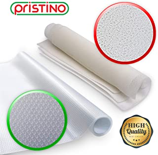 Refrigerator Liners – Fridge Shelf Mats – Washable Liner for Shelves - Drawers and Organizers - Non Adhesive Clear Mats – Produce Saver and Protector