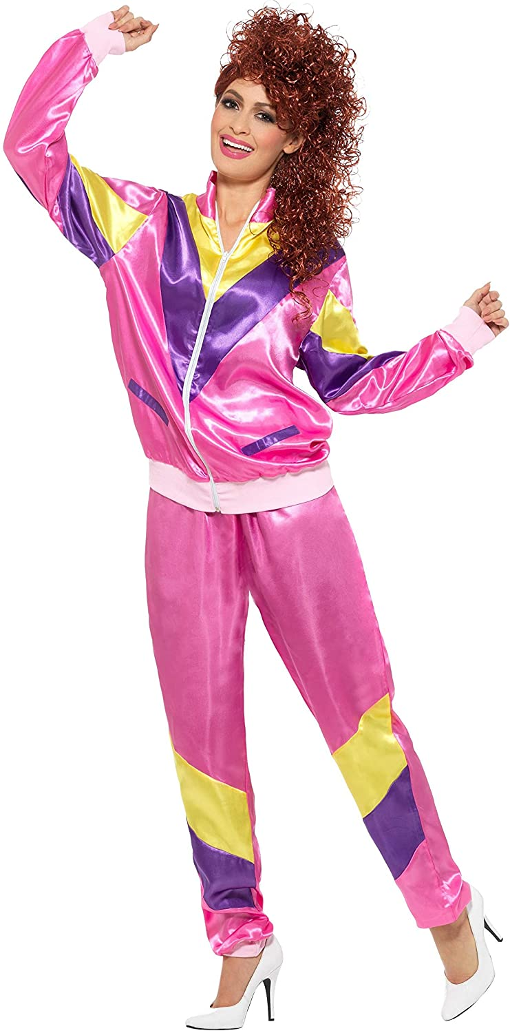 Smiffys Women's 80's Height of Fashion Shell Suit Costume