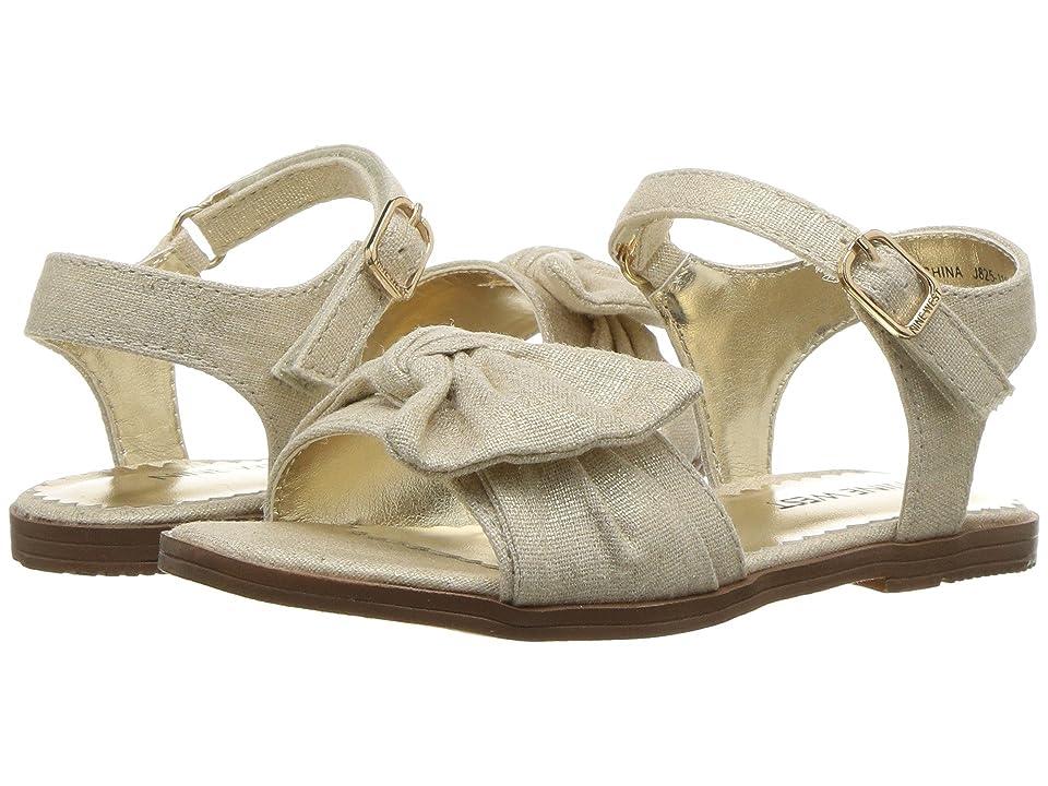 90c19bac484 Nine West Kids Keirita (Toddler Little Kid) (Gold Metallic Linen) Girl s  Shoes