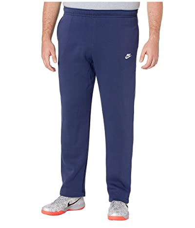 Nike Big Tall NSW Club Pants Open Hem (Midnight Navy/Midnight Navy/White) Men