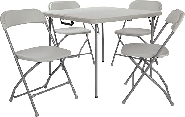 Office Star PCT 05 Table And Chair Set Light Grey