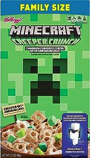 Kellogg's, Minecraft Breakfast Cereal, Cinnamon, Family Size, 12.7oz ( 1 BOX )