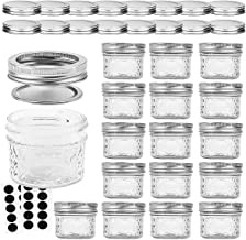 VERONES Mason Jars Canning Jars, 4 OZ Jelly Jars With Regular Lids and Bands, Ideal for Jam, Honey, Wedding Favors, Shower...