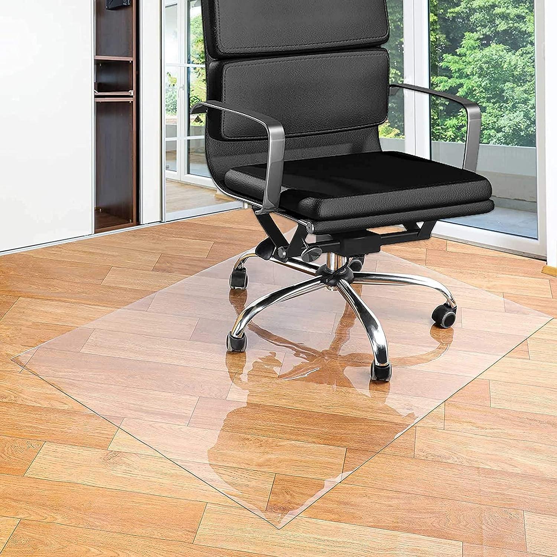 ERLAN Clear 5 ☆ very popular Chair Seattle Mall Mat for Hard Floor W Mats Floors Transparent