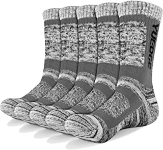 YUEDGE Men's 5 Pairs Athletic Socks Breathable Cushion Comfortable Casual Crew Socks Performance Multi Wicking Workout Spo...