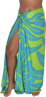 Hawaiian Lauae Leaf Sarong Pareo BeachWrap Swimsuit Coverup
