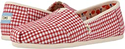 Cherry Tomato Gingham Stripe