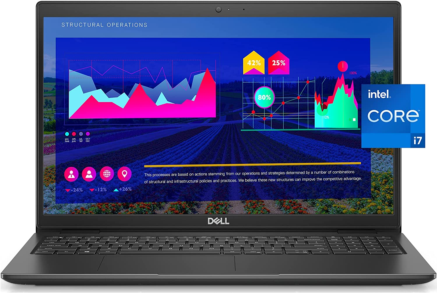 2021 Newest Dell Business Laptop Latitude 3520, 15.6
