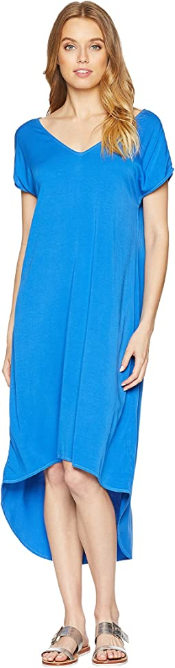 Rylie Rayon Short Sleeve High-Low Dress