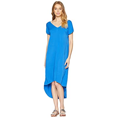 Michael Stars Rylie Rayon Short Sleeve High-Low Dress (Marina) Women