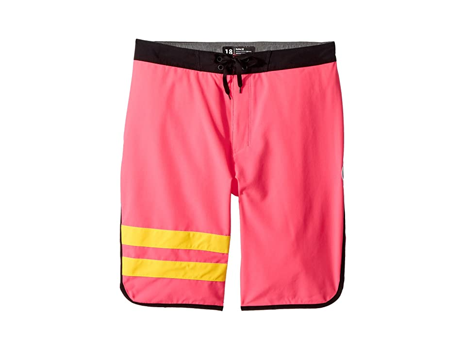 Hurley Kids Block Party Boardshorts (Big Kids) (Bright Pink) Boy