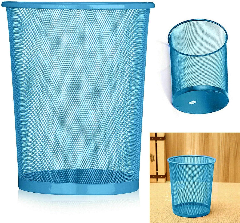 Colourful Mesh Waste Paper Basket 1 X Office Metal Dustbin Rubbish Bins Trash