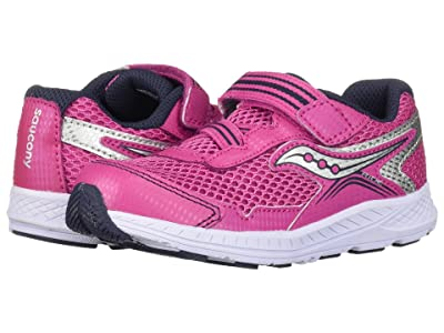 Saucony Kids Ride 10 Jr (Toddler/Little Kid) (Pink/Silver) Girls Shoes