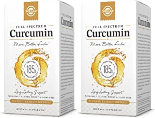 Solgar Full Spectrum Curcumin Liquid Extract, 90 Softgels - 2 Pack - Faster Absorption - Brain, Joint & Immune Health - Lo...