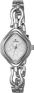 Titan Women's Silver Dial Stainless Steel Band Watch - 2536SM02