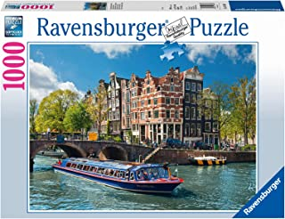 Ravensburger Canal Tour in Amsterdam Puzzle 1000pc,Adult Puzzles