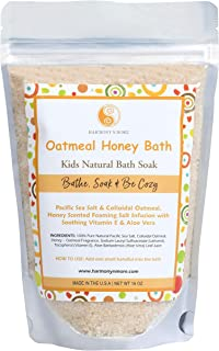 Best Oatmeal Honey Kids Bath - Natural Pacific Sea Salt - Comfy & Nourishing for The Skin - Tub Time Foaming Bath Salt Soa...