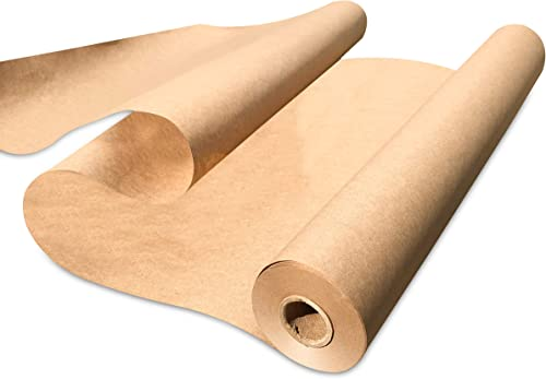 "Made in USA Kraft Paper Wide Jumbo Roll 48"" x 1200"" (100ft) Ideal for Gift Wrapping, Art, Craft, Postal, Packing, Shi..."