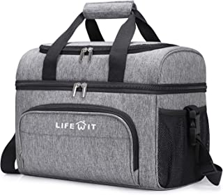 Sponsored Ad - Lifewit Collapsible Cooler Bag 32-Can Insulated Leakproof Soft Cooler Portable Double Decker Cooler Tote fo...