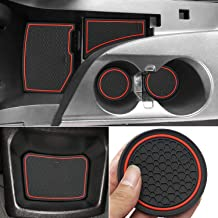 Auovo Anti Dust Mats for Chevrolet Chevy Camaro 2019 2018 2017 2016 Custom Fit Door Compartment Liners Cup Holder Center Console Mats Interior Accessories (Red, 9 pcs/Set)