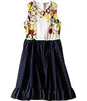 Dolce & Gabbana Kids - Fiori Denim Dress (Big Kids)