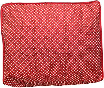 Stylo Shop 3 Layered Cotton Quilted Large Saree Cover Bag/Wardrobe Organiser with Transparent Window (Pack of 2)