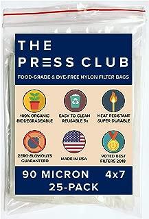 90 Micron | Premium Nylon Tea Filter Press Screen Bags | 4