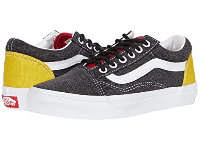 Vans Kids Old Skool (Little Kid) ((Vans Coastal) Black/True White) Boys Shoes