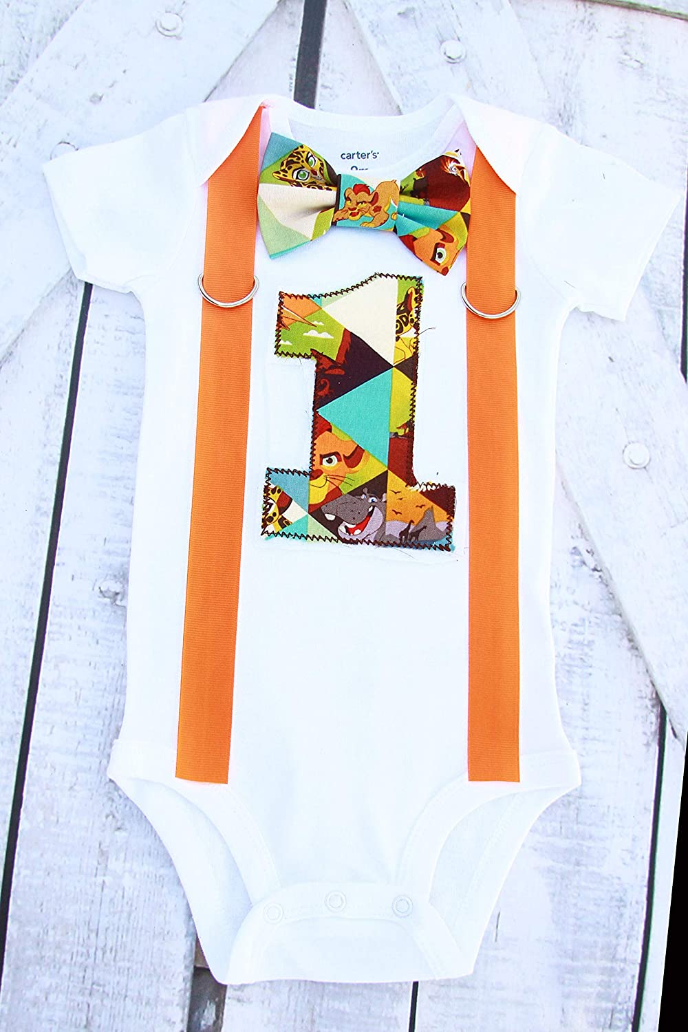 Boy first 55% OFF birthday Import Cake Smash guard outfit- Parent Lion shirts