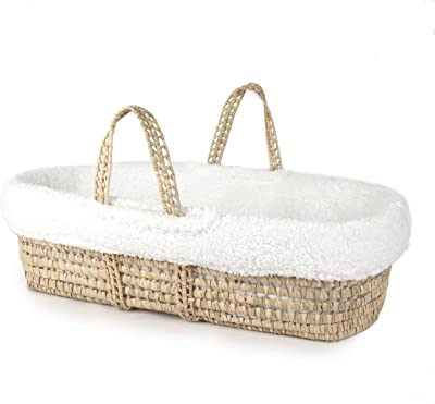 Orange//Apple Baby Doll Bedding Solid Reversible Moses Basket