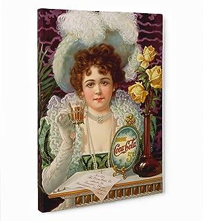 LaMAGLIERIA Fine Art - Cuadro de Tela Canvas Coca Cola - Vintage Listo para Colgar – Medida Marco (Posterior) 2cm – Fine Art, 70cmx100cm